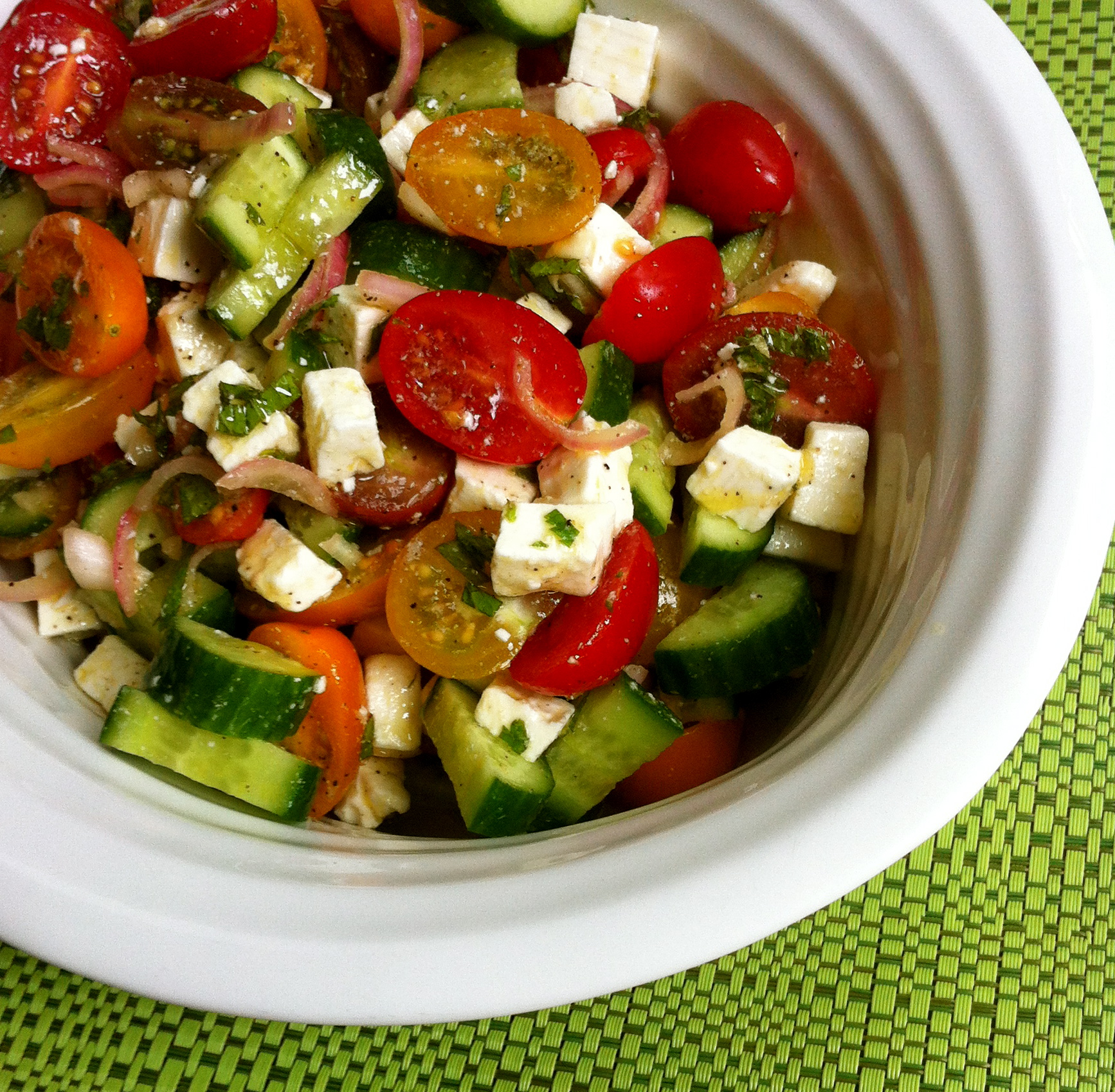 Persian recipes salad shirazi